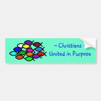 Kristna fisksymboler - regnbågen skola - bildekal