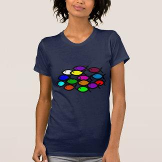 Kristna fisksymboler - regnbågen skola - t-shirt