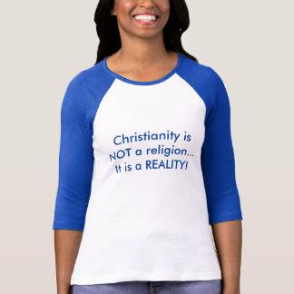 Kristna kvinna 3/4 skjorta för sleeveutslagsplats t-shirts