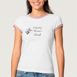 Kristna kvinna sociala utslagsplats tee shirts