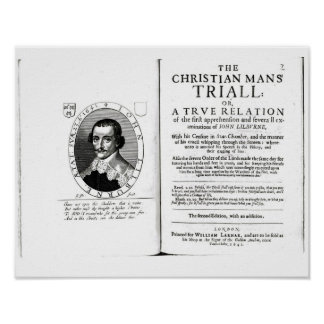 Kristna man Trial av John Lilburne Poster