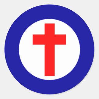 Kristna Roundel Runt Klistermärke