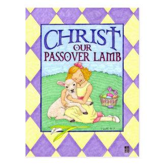 Kristus den inspirera vykortet för Lambpåsk Vykort