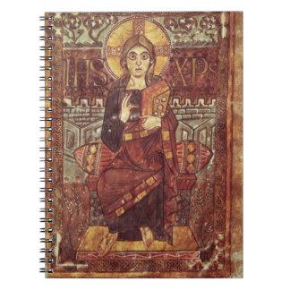 Kristus fol.3 för NAL 1203 i majestät, från Godesc Anteckningsbok Med Spiral
