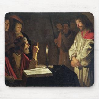 Kristus för Caiaphas (olja på kanfas) Musmatta