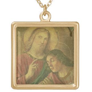 Kristus huvud, från den sist kvällsmålet, 1480 (fr guldpläterat halsband