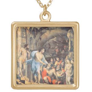 Kristus i Limbo, c.1530-35 (panelen) Guldpläterat Halsband