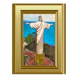 Kristus kungen Rio de Janeiro Vykort