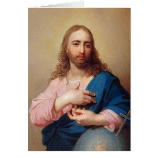 Kristus med ett jordklot av Vladimir Borovikovsky Hälsningskort