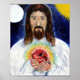 Kristus med pomegranaten poster