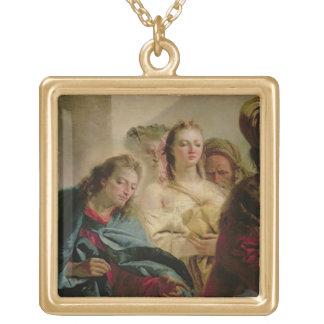 Kristus och adulteressen, 1751 (olja på kanfas) guldpläterat halsband