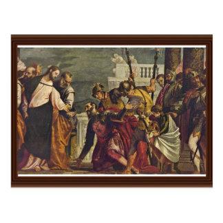 Kristus och centurionen av Capernaum vid Veronese Vykort