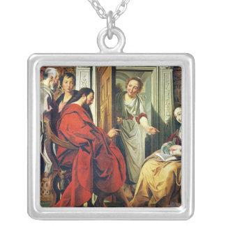 Kristus på huset av Martha och Mary av Bethany Silverpläterat Halsband