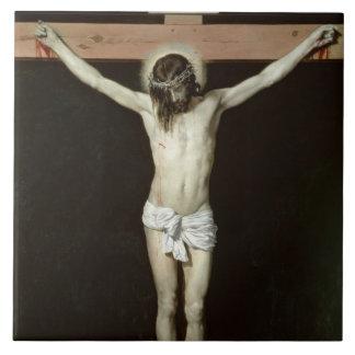 Kristus på kor, c.1630 stor kakelplatta