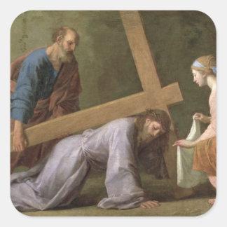 Kristus som bär kor, c.1651 fyrkantigt klistermärke