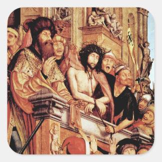 Kristus som framläggas till folket, c.1515 fyrkantigt klistermärke