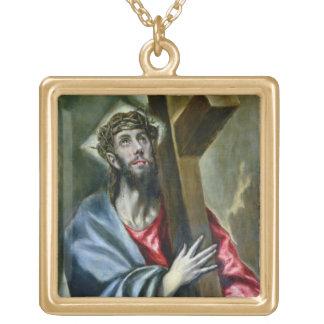 Kristus som knäpper fast kor, 1600-10 (olja på kan guldpläterat halsband