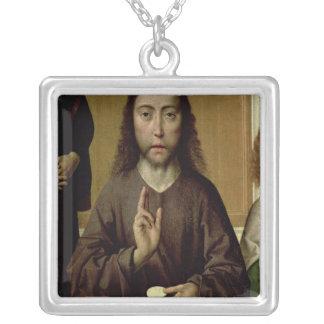 Kristus som välsignar 2 halsband med fyrkantigt hängsmycke