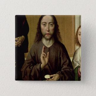 Kristus som välsignar 2 standard kanpp fyrkantig 5.1 cm