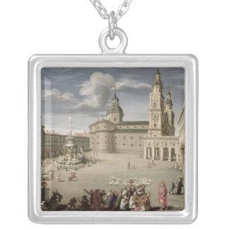 Kristus som välsignar folket av Salzburg Silverpläterat Halsband