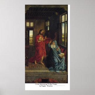Kristus som visas till oskulden av Rogier Weyden Poster
