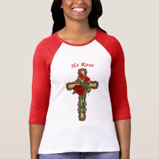 Kristus steg, kvinna kristna skjortor tee