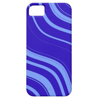 Kritisera blått vågigt randmönster iPhone 5 Case-Mate fodraler