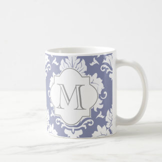 Kritisera den damastast Monogrammed muggen för Kaffemugg