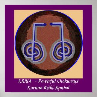 KRIYA - Karuna Reiki som läker symbol Poster