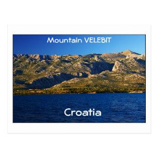 Kroatien - berg Velebit Vykort