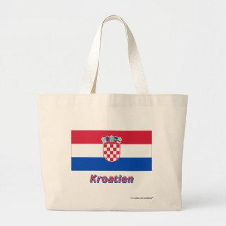 Kroatien Flagge mit Namen Kassar
