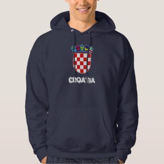 Kroatien med vapenskölden tröja med luva