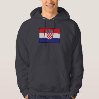 Kroatien plattar till flagga hoodie