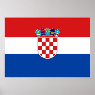 Kroatienflagga Poster