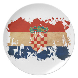 Kroatienflagga Tallrik