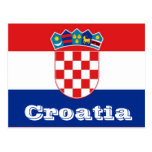 Kroatienflagga Vykort