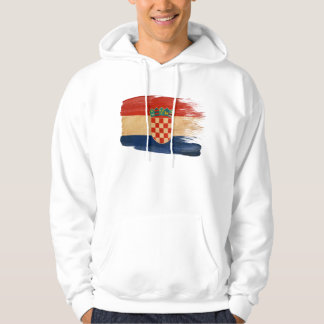 KroatienflaggaHoodie Munkjacka