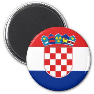 Kroatienflaggamagnet Kylskåpsnagnet
