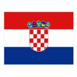 Kroatienflaggavykort