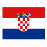 Kroatienflaggavykort Vykort