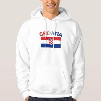Kroatisk flagga 2 sweatshirt
