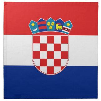 Kroatisk flagga på den MoJo servetten Tygservett