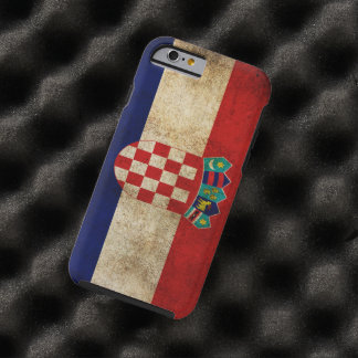 kroatisk flagga tough iPhone 6 skal