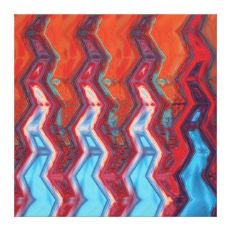 Krokig abstrakt konst - canvastryck