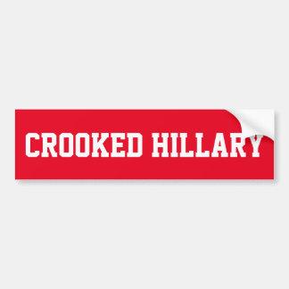 Krokiga Hillary Clinton Bildekal