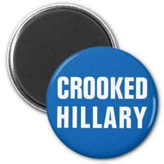 Krokiga Hillary Clinton Magnet Rund 5.7 Cm