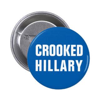Krokiga Hillary Clinton Standard Knapp Rund 5.7 Cm
