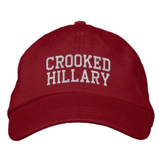Krokiga Hillary val 2016 Broderad Keps