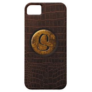 Krokodil och Monogram iPhone 5 Case-Mate Skal