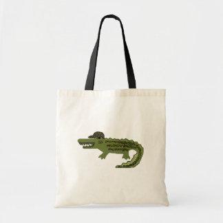 Krokodilcoola Budget Tygkasse